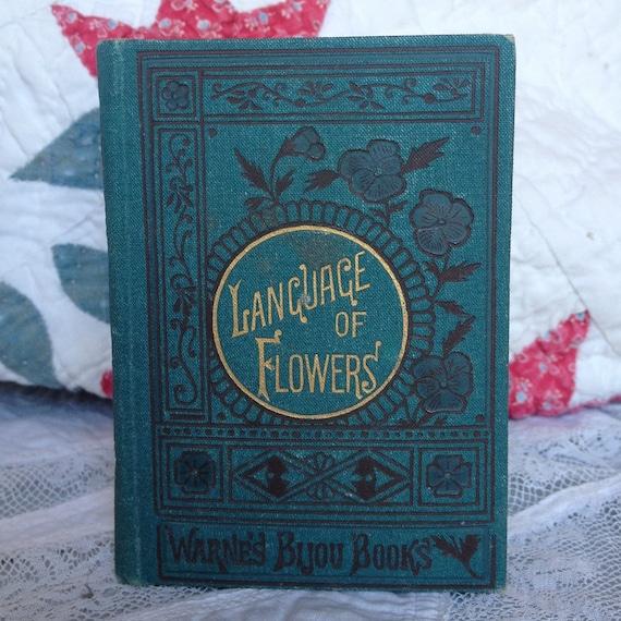 Miniature Antique Book- Language of Flowers