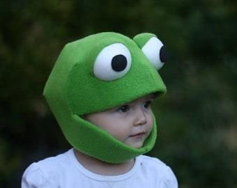 Frog Mask Child Size Small Medium or Large