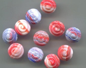13mm Cinnamon Bun Czech Glass Beads (Set of 16)