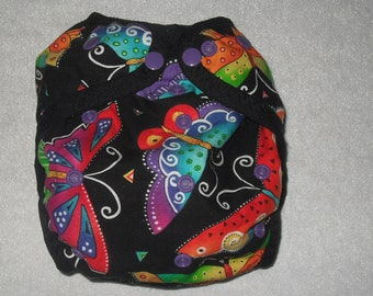 Butterflies One size diaper cover