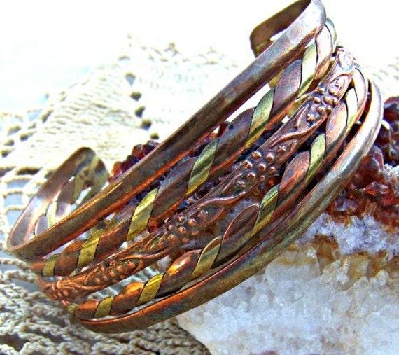 Vintage Copper Brass Bracelet Direct Checkout Woman Metal CYBER MONDAY Etsy