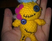 1/2 PRICE SALE  yellow Voodoo Zombie Robot