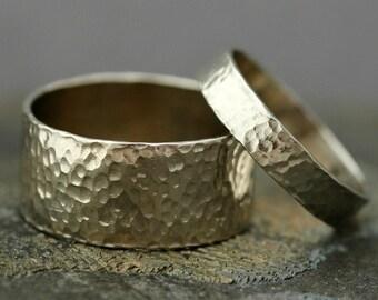 14k Gold Wedding Band Set- Custom Made