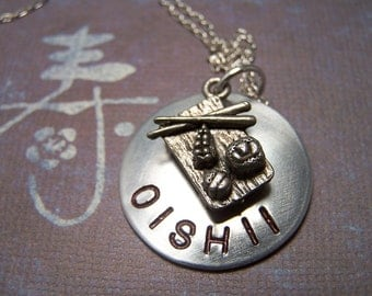 Oishii  Necklace with sushi charm
