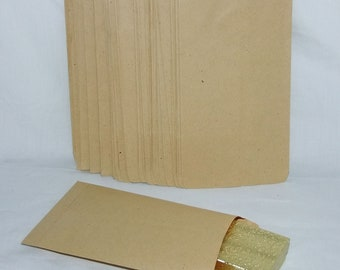 100 Kraft Paper Gift Bags 5 x 7 Inch