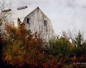 Autumn Barn Photo - Iowa Barns - Old Barn Photo - Barn Photography - Iowa Photography
