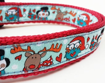 Holiday Helpers - Dog Collar / Pet Accessories / Handmade / Christmas / Adjustable