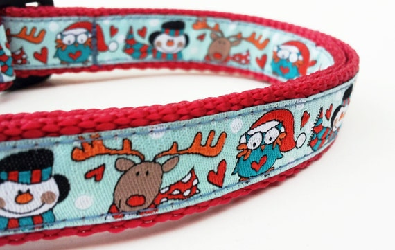 Holiday Helpers - Dog Collar / Pet Accessories / Handmade / Christmas / Adjustable