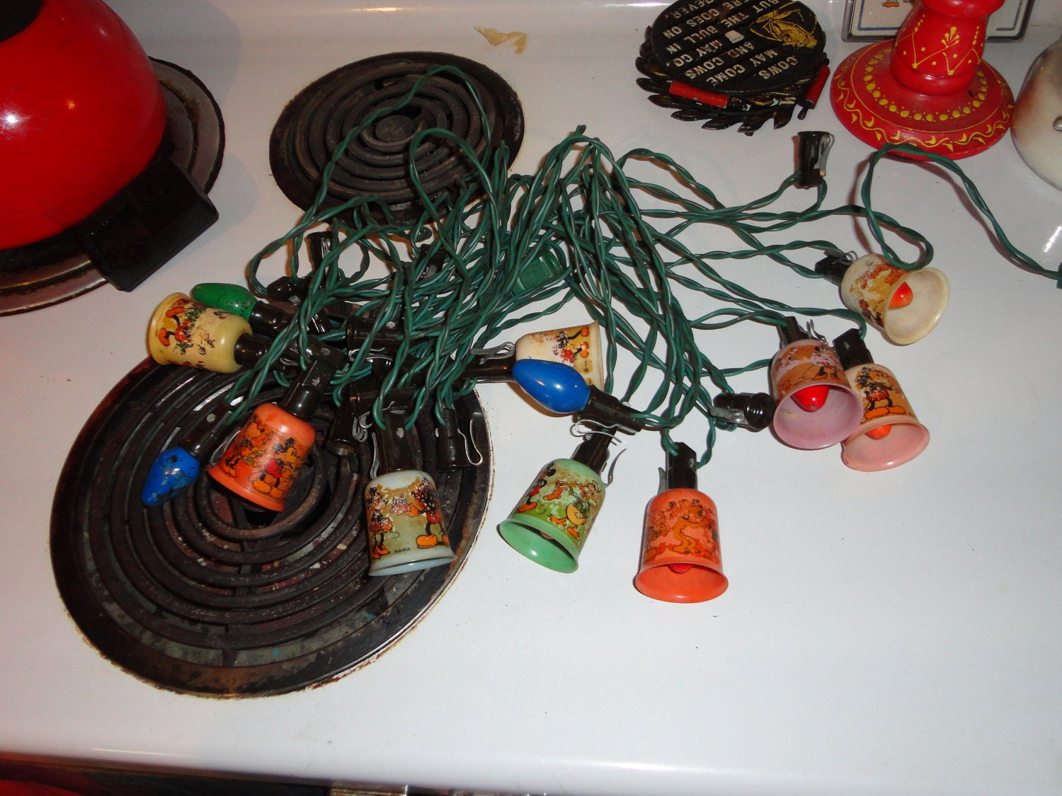 Vintage String Lights Etsy : Vintage disney christmas lights Noma 9 covers