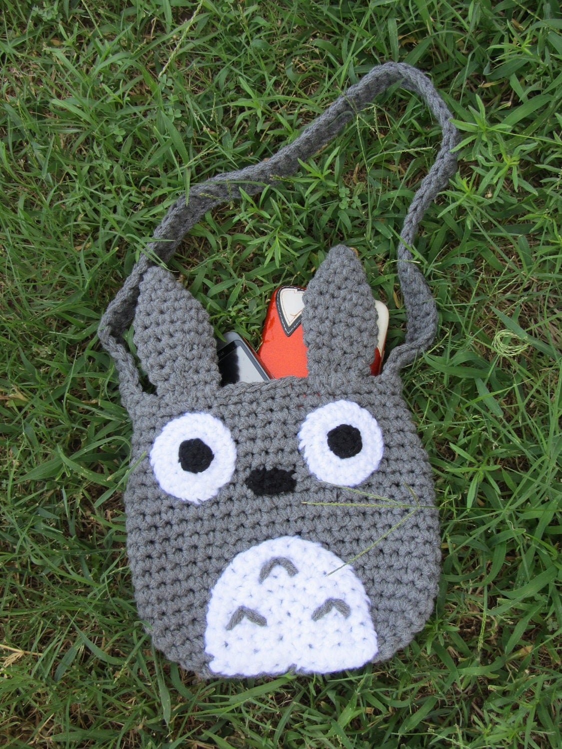 RESERVED for Kiwikitten101 Crochet Totoro Tote