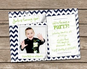 Polaroid Snap Shot Boy Birthday Invitation