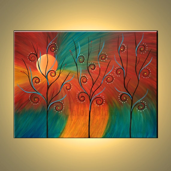 Original oil painting abstract modern fine art painting of for Oil painting ideas abstract