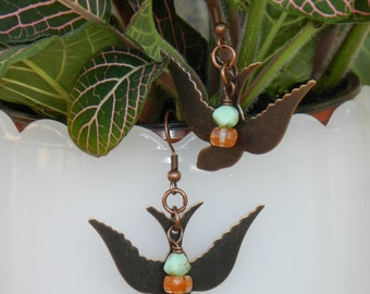 Handmade Songbird Earrings