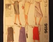 McCalls 9196 Vintage Skirt Sewing Pattern
