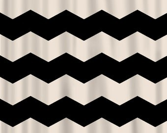 black white chevron shower curtain. Custom Chevron Shower Curtain  Extra Wide 6 inch stripes Available Any Color Curtains Rings Etsy