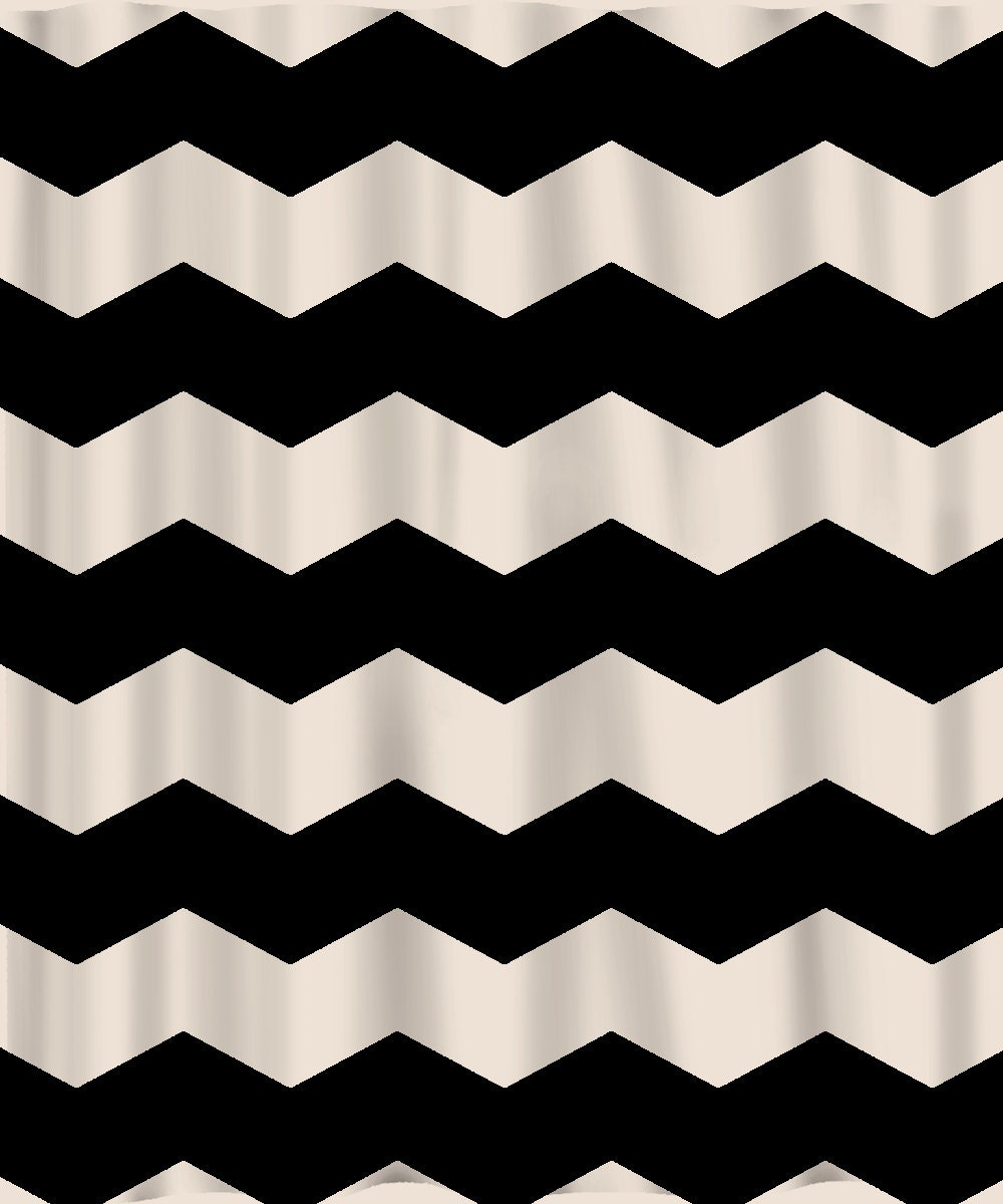 Custom Chevron Shower Curtain Extra Wide 6 inch by redbeauty