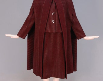 Pauline Trigere Striped Wool Ensemble, c. 1970