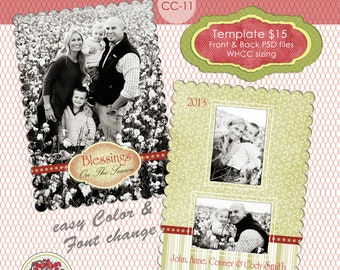 Christmas Photo Card Collection CC-11 **** Instant Download****