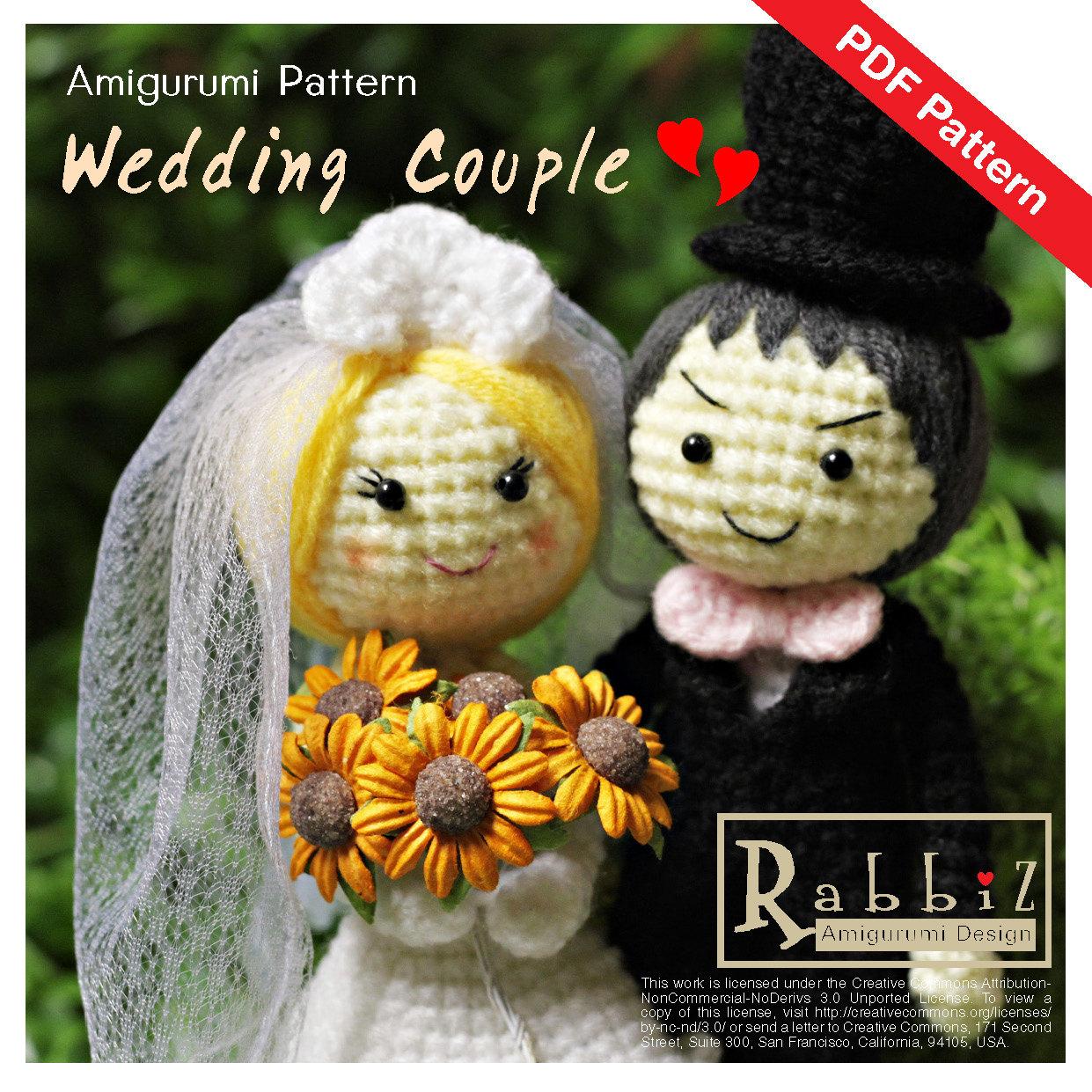PDF Pattern Amigurumi Wedding Couple
