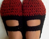 Crochet Womens Slippers, Ballet Flats, House Shoes Different Colors