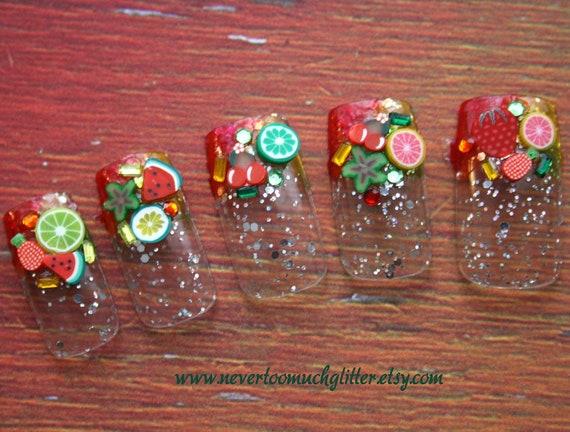 Japanese Nail Art- Fruit Salad- Press on Nails-Last One
