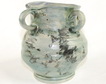 Vase with Grape Leaf Design