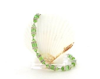 Swarovski Bracelet - Peridot