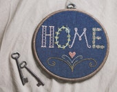 a taste of home, embroidered wall decor