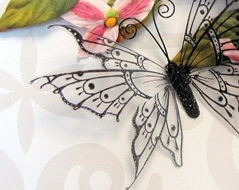 Glass Butterfly Embellishments G9