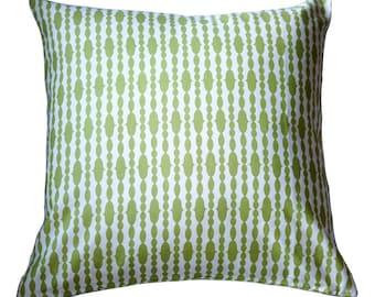 Organic Pillow Cover - Raindrops Split Pea