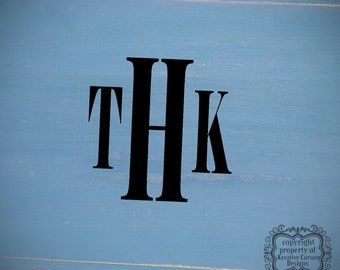 Three Letter Monogram-Vinyl Wall Art