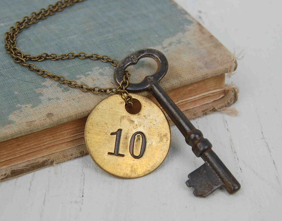 Antique Skeleton Key Necklace. He gave her the Key to Room 10