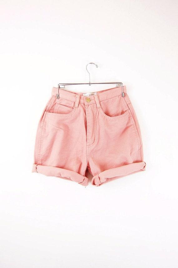 Rose High Waisted Shorts / Denim Cut offs - XS
