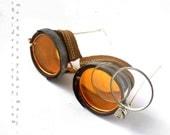 Unisex Orange Steampunk Goggles Eyewear