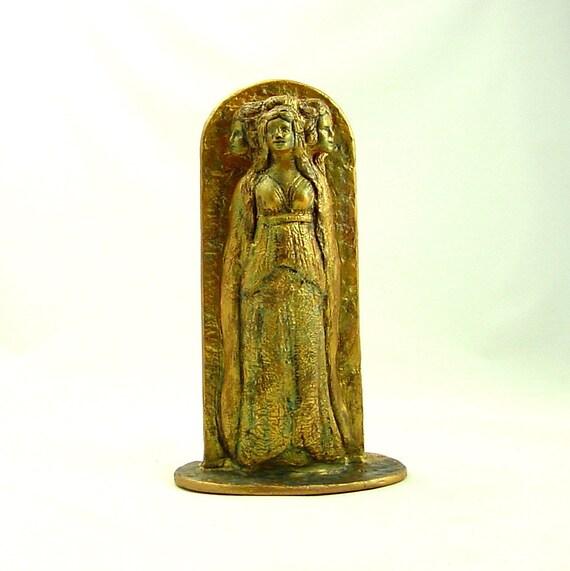 GODDESS HECATE HEKATE Statue Sculpture Handmade Sculpture