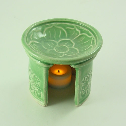 Aromatherapy diffuser lotus essential oil handmade ceramic for Alpine cuisine bs 400 propane burner