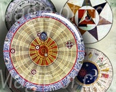 In the Search of the Point of Essence. Gnosis   - 63  1 Inch Circle JPG images - Digital  Collage Sheet