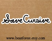save cursive - english teacher bumper sticker vinyl laptop decal handwriting gift typography sticker cursive font macbook cursive writing