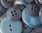 BULK - Buttons - Gray/Blue - OVER 100
