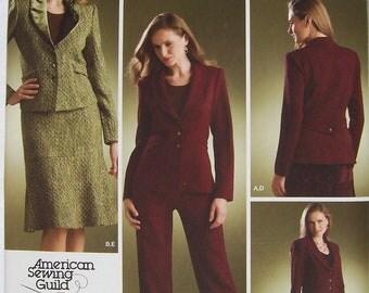 Skirt, Pants, & Lined Jacket - Simplicity 3962 Pattern - UNCUT