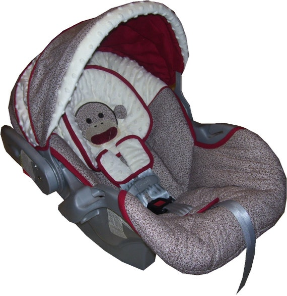 graco snugride car seat replacement cover sock monkey free. Black Bedroom Furniture Sets. Home Design Ideas