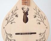 NEW  ( Stag/deer head )  flat top/back mandolin