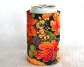 Beer Koozie Can Coozy Insulated Cozy Autumn Print