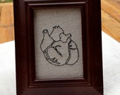 Anatomical heart hand embroidery