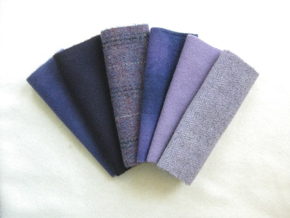 Hand Dyed and Felted Wool Fabric Number 2818B