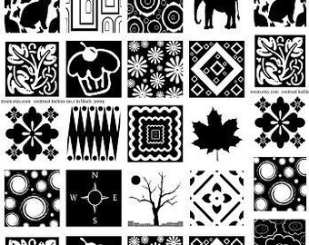 Decal Glass Fusing Sepia Decals for Image Transfer Onto Glass Squares2012