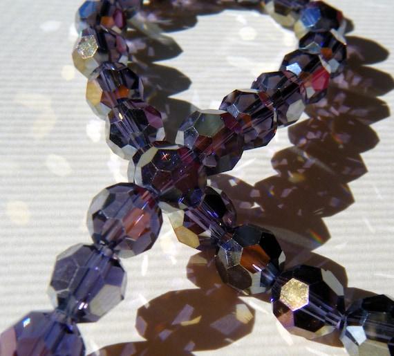 Purple AB Chinese Crystal Round Beads 10 beads (cc-purprnd-8)