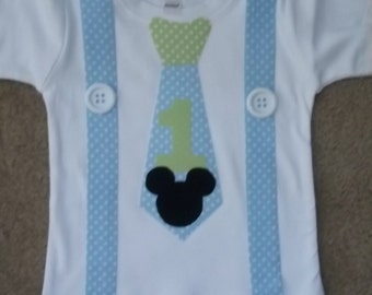 Baby Mouse Tie and Suspenders Shirt
