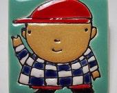 Man with Checkered Shirt No. 13