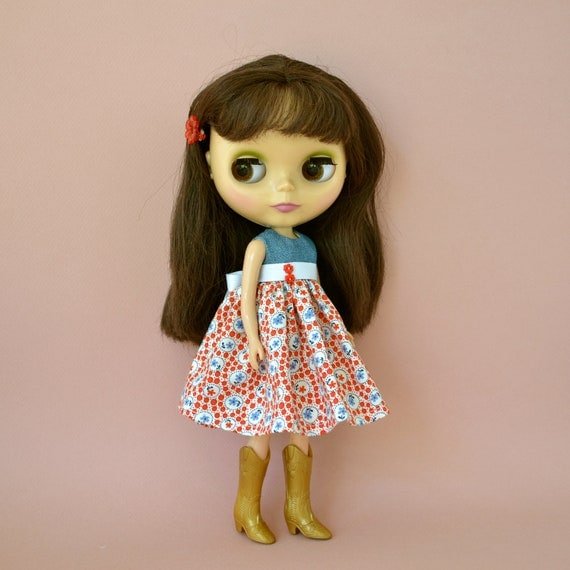 SALE Provence Dress for Blythe Kenner and Neo Blythe Doll